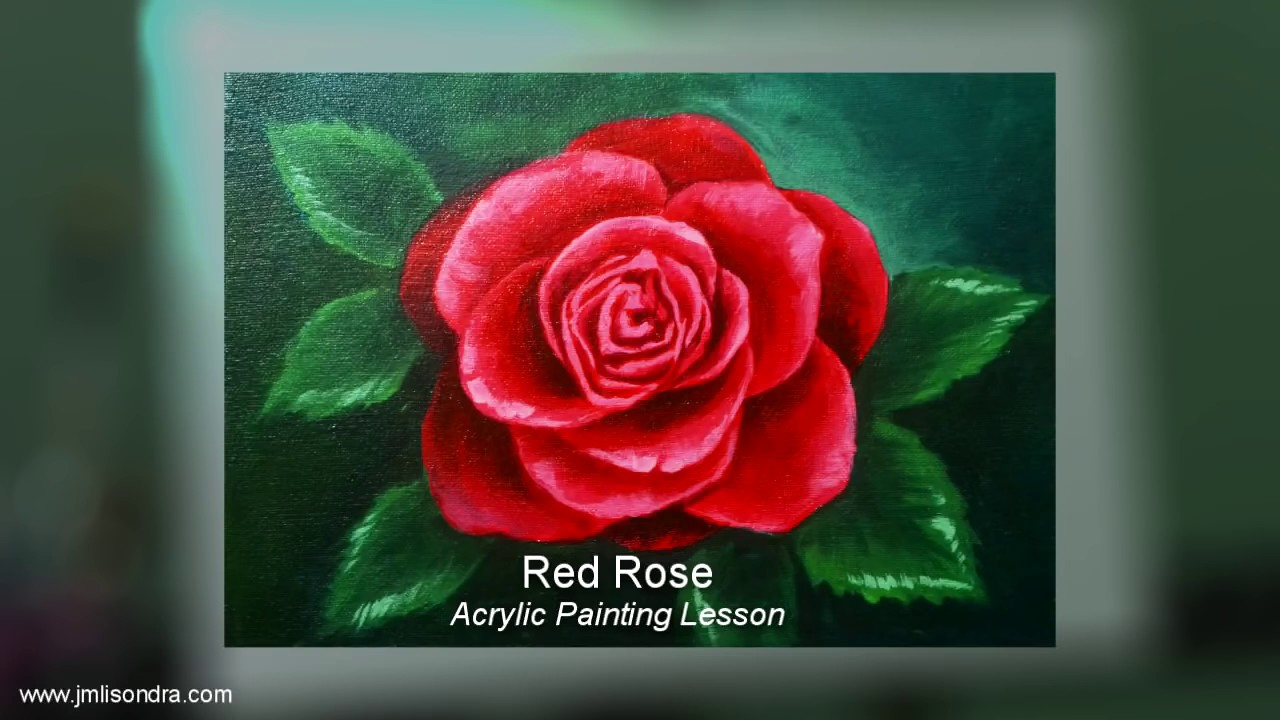 How To Paint A Rose Step By Step Instruction