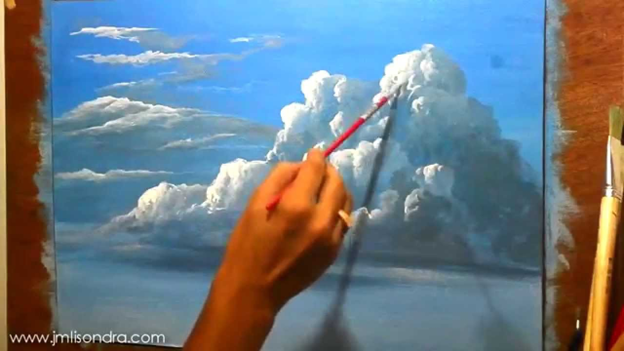 How to paint clouds in oils acrylics and watercolor for Oil or acrylic