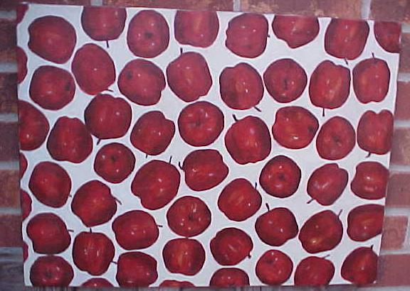 apples-painting of apple