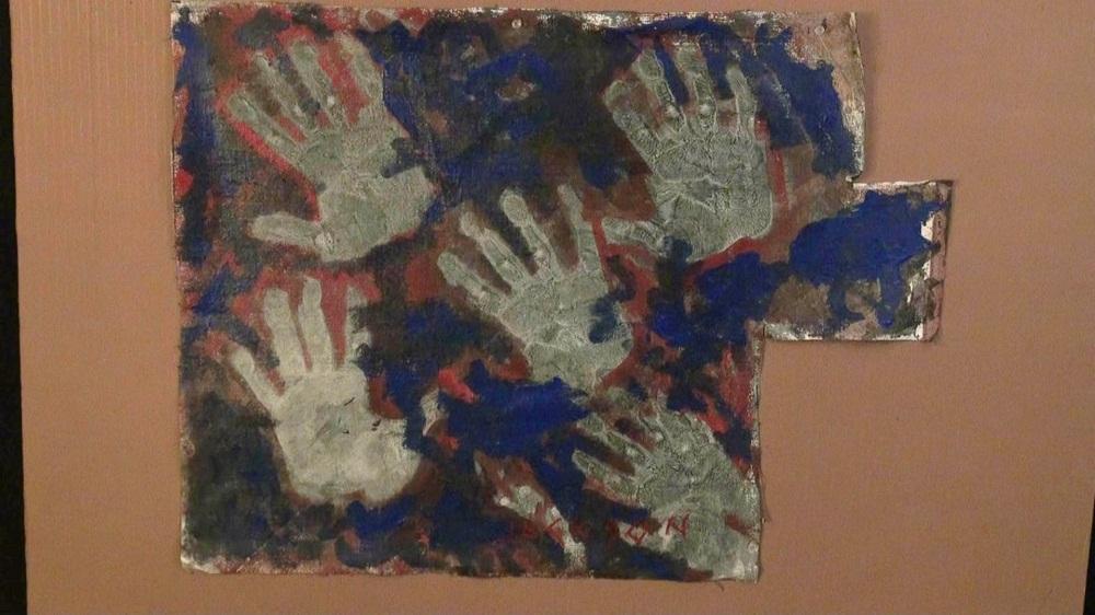 Artist Hands Painting