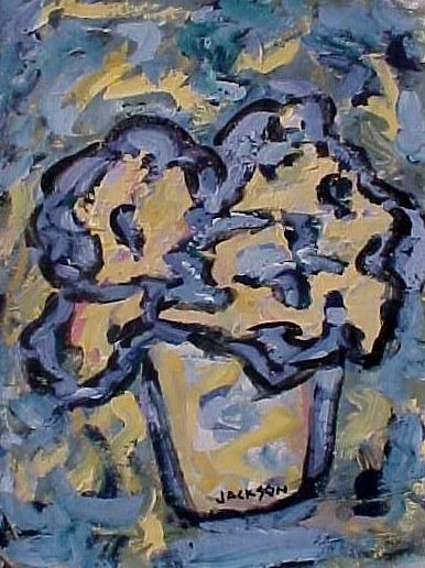 Flow Blue Flowers Painting