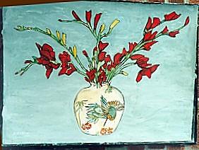 gladiolus painting