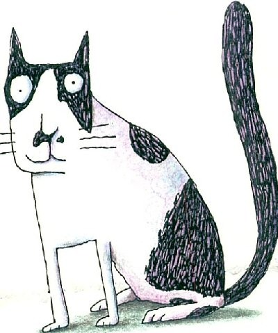 cat drawing by Joan Pond