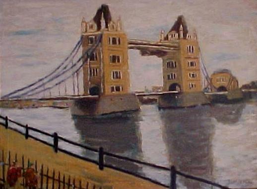 London tower bridge painting