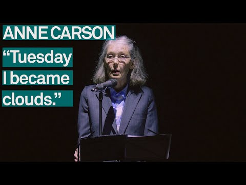 Anne Carson: Lecture on the History of Skywriting