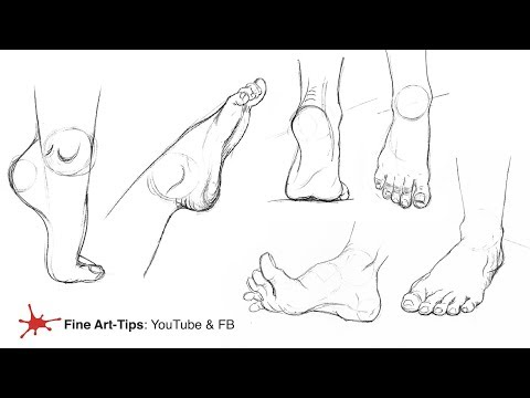 HOW TO DRAW FEET FROM ANY ANGLE, EASILY!