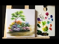How to paint bushes flowers lesson 1