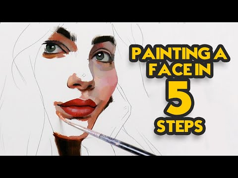 Painting a Face in 5 Steps