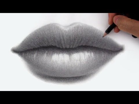 How to Draw + Shade Lips in Pencil