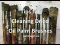 Cleaning Oil Brushes - NO SOLVENTS!