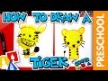 How To Draw A Tiger - Preschool
