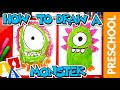 How To Draw A Funny Monster - Preschool