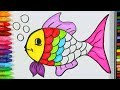 How to draw Fish - Drawing and Coloring for Kids