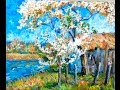 How to paint a Spring Landscape like the Impressionists a Step By Step tutorial.