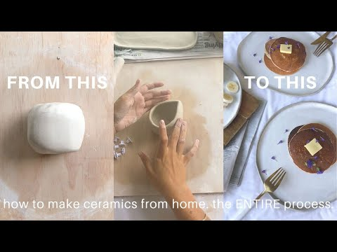 HOW I MAKE CERAMICS AT HOME (the entire pottery process) | lolita olympia