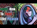 Learn How to Paint like Picasso | Girl Before A Mirror | Acrylic Painting Tutorial