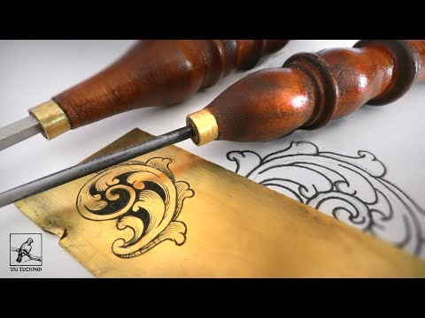 How to - Make an Engraving Chisel and Scroll Design... and some Engraving  too