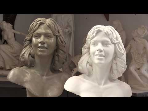 Sculpting a Portrait, making a mold and a cast