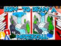 How To Draw A Waterfall Landscape - #CampYouTube Draw #WithMe
