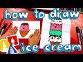 How To Draw An Ice Cream Tower (Folding Surprise)