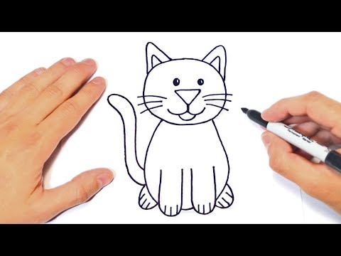 How to draw a Cat   Cat Easy Draw Tutorial