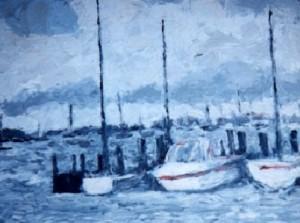 Rain ocean painting