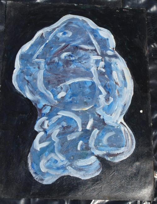 Modern Blue Art abstract Imapainting-03