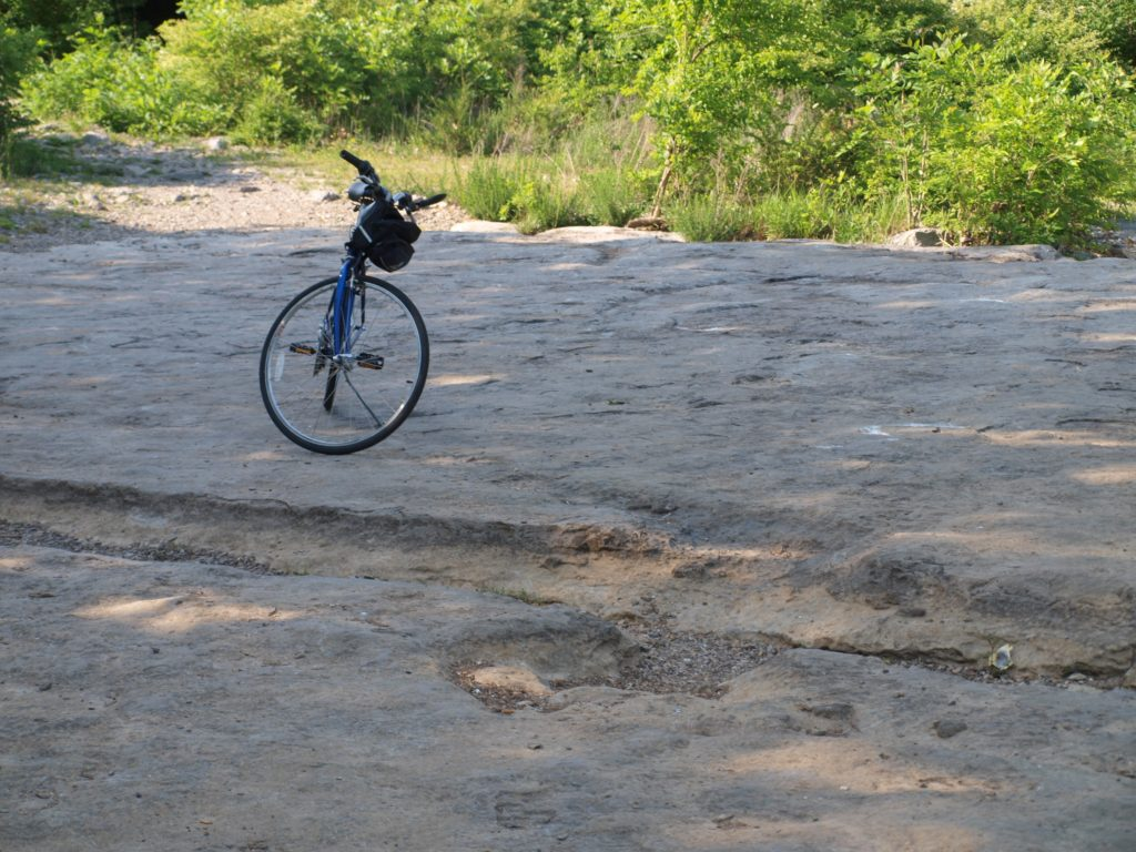 bicycle on rocks