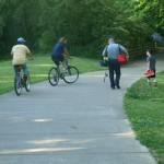 Bicycles on trail