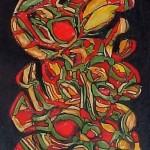 abstract banana painting 11