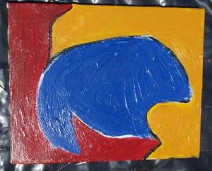 Abstract Buffalo Painting