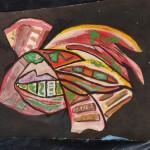 abstract rocket ship painting 04