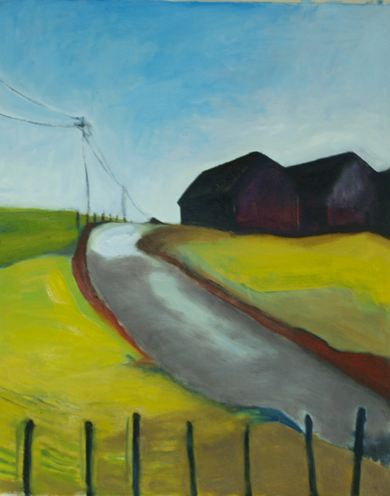 road 804x1024 Street on Hillside Painting by Glenn Merchant
