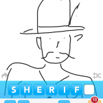 Draw Something Art sheriff