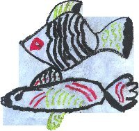 Child's fish drawing
