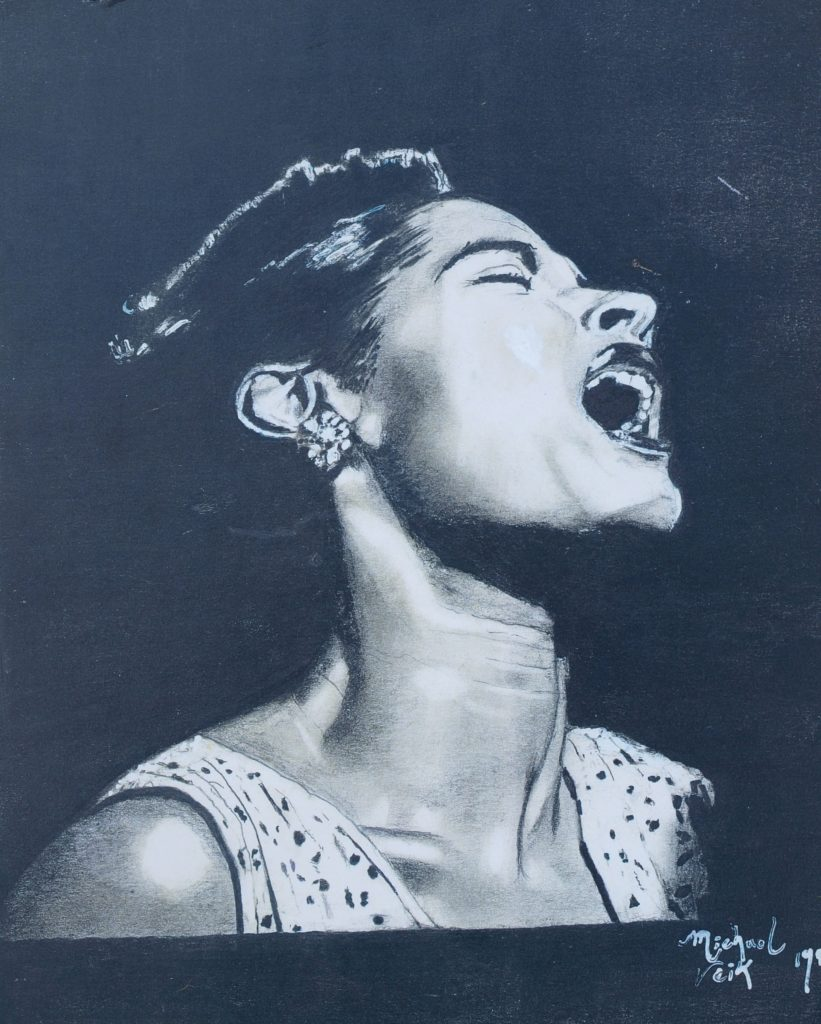 Billie Hilliday by Michael Veik drawing