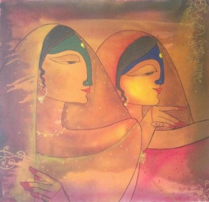 indian ladies 300x290 Indian Ladies Painting by Gayatri Bhutada
