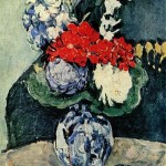 Paintings and Images by Cezanne_Bouquet in a Delft Vase (Bouquet au petit Delft)