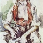 Paintings and Images by Cezanne_Boy with Red Vest