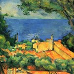 Paintings and Images by Cezanne_Estaque mit roten