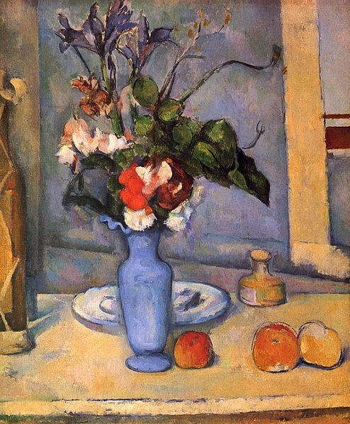 Paintings and Images by Cezanne_The Blue Vase (Le Vase Bleu)