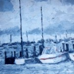 modern impressionism landscapes_connecticut boats beside ocean