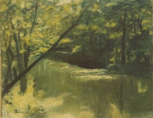 modern impressionism landscapes_creek in forest