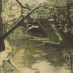 modern impressionism landscapes_creek with shadows
