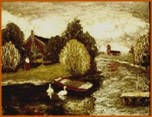 modern impressionism landscapes_lansdcape with ducks
