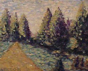 modern impressionism landscapes_roadside Smyrna