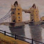 modern impressionism landscapes_tower bridge in London
