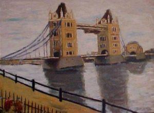 modern impressionism landscapes_tower bridge in London