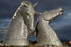 kelpies The Kelpies by Scottish Sculptor Andy Scott