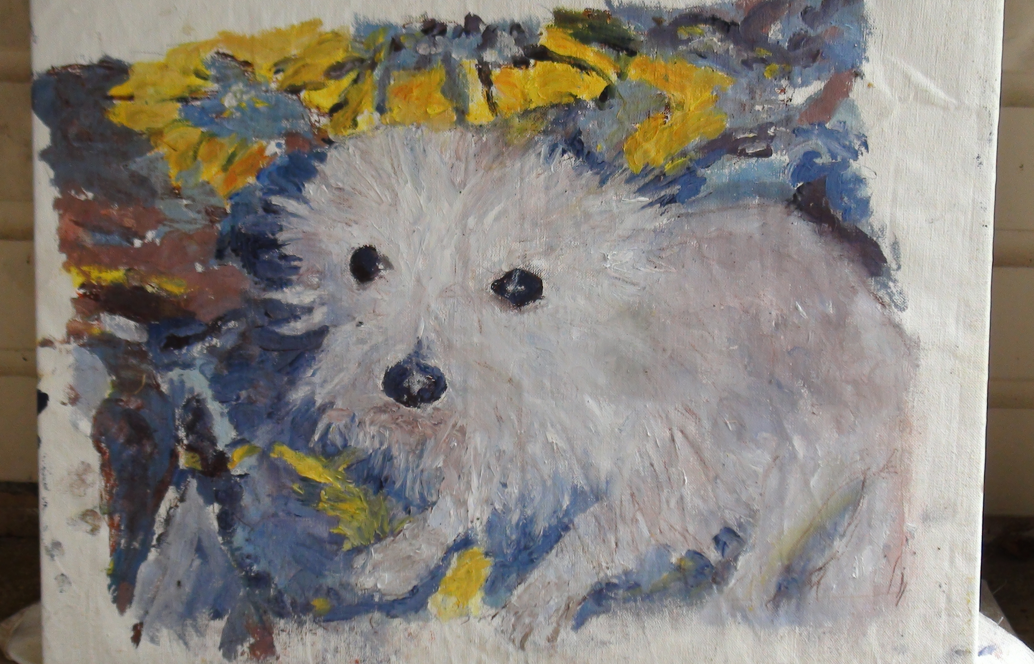 Schmutt the dog painting for sale artvilla for Painting for sale by artist